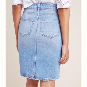 Anthropologie Skirts - {Pilcro} Classic Denim Pencil Skirt Size 14 NWT